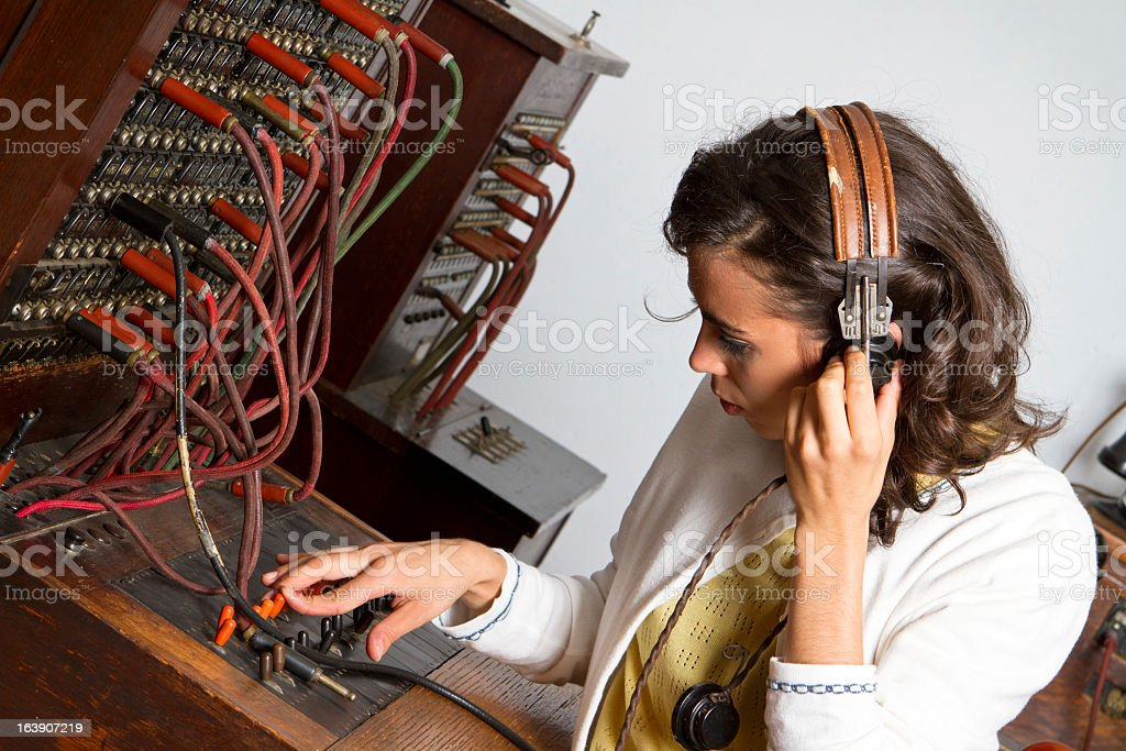 old-cord-switchboard-operator-picture-id163907219