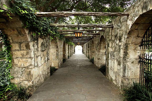 Old Corridor at the Alamo stock photo