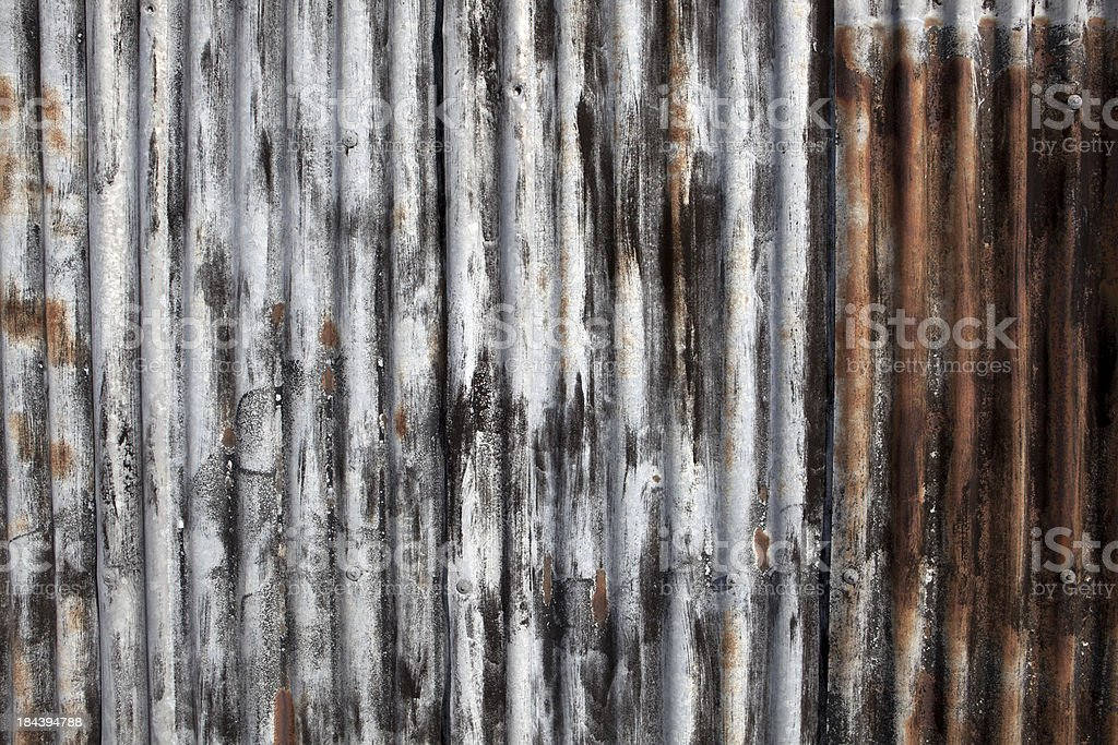 Old Corrugated Metal Texture (XXXL) royalty-free stock photo