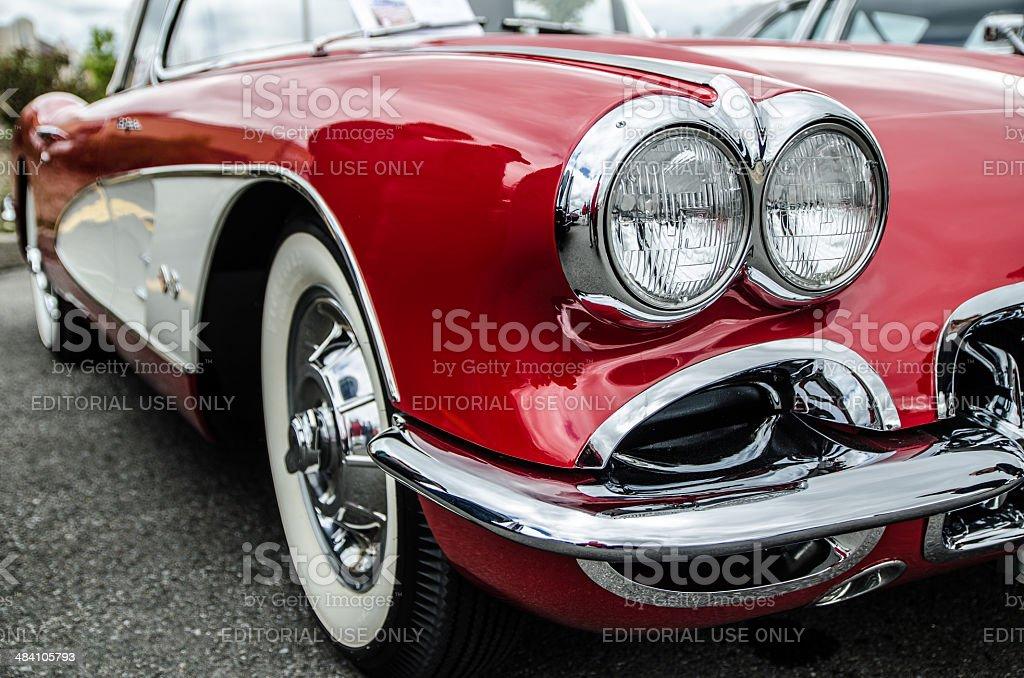 Old Corvette stock photo
