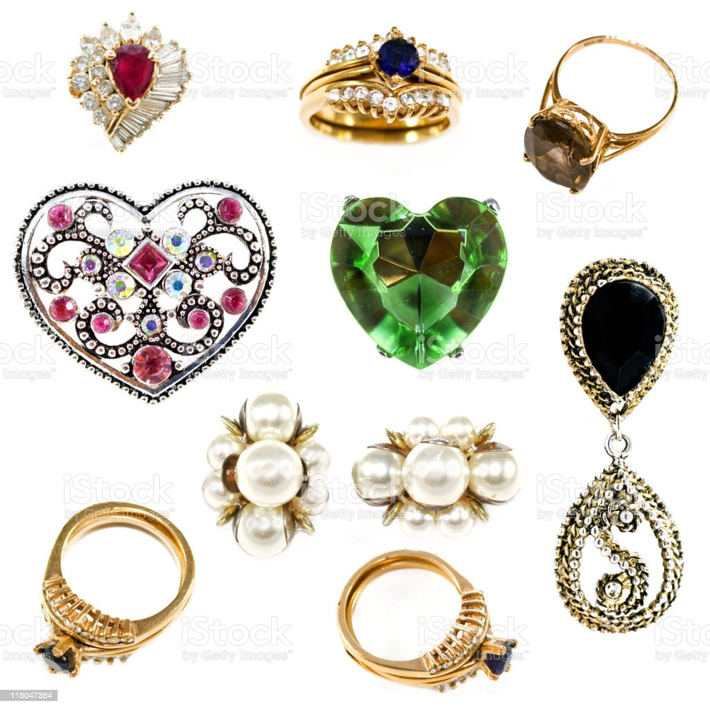 Old Costume Jewelry royalty-free stock photo