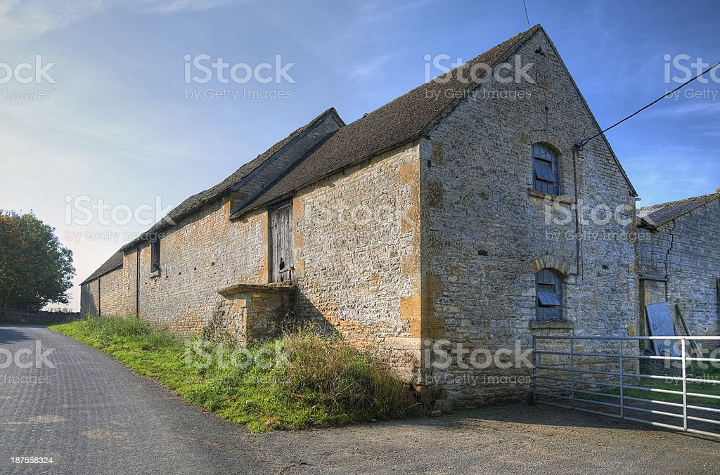 Old Cotswold barn stock photo