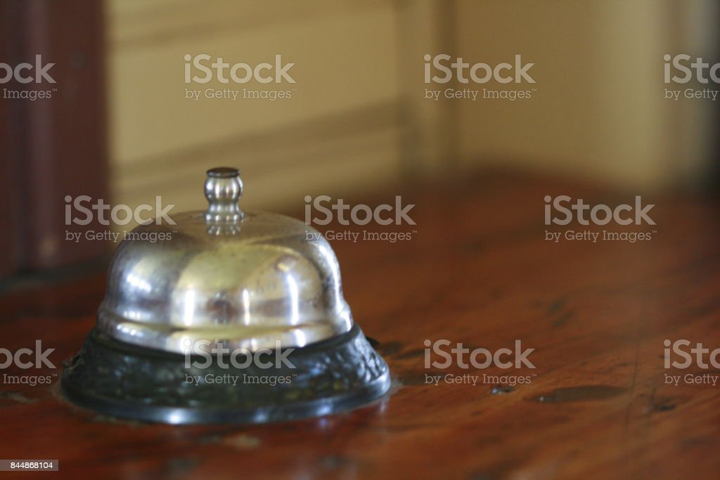Old counter top service bell stock photo