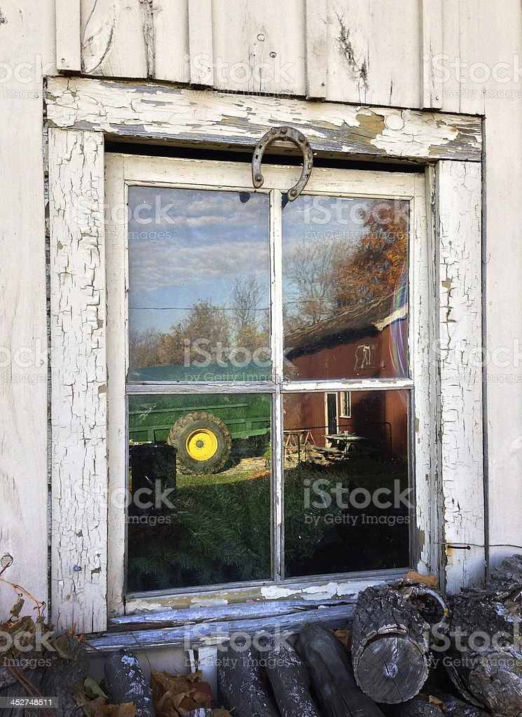 Old country House detail stock photo