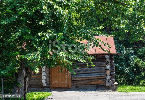 istock Old country house in Altai, Russia 1128572174