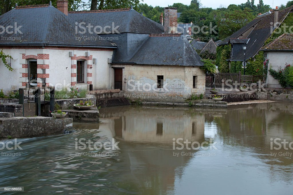 Old Country house in Azay le Rideau stock photo