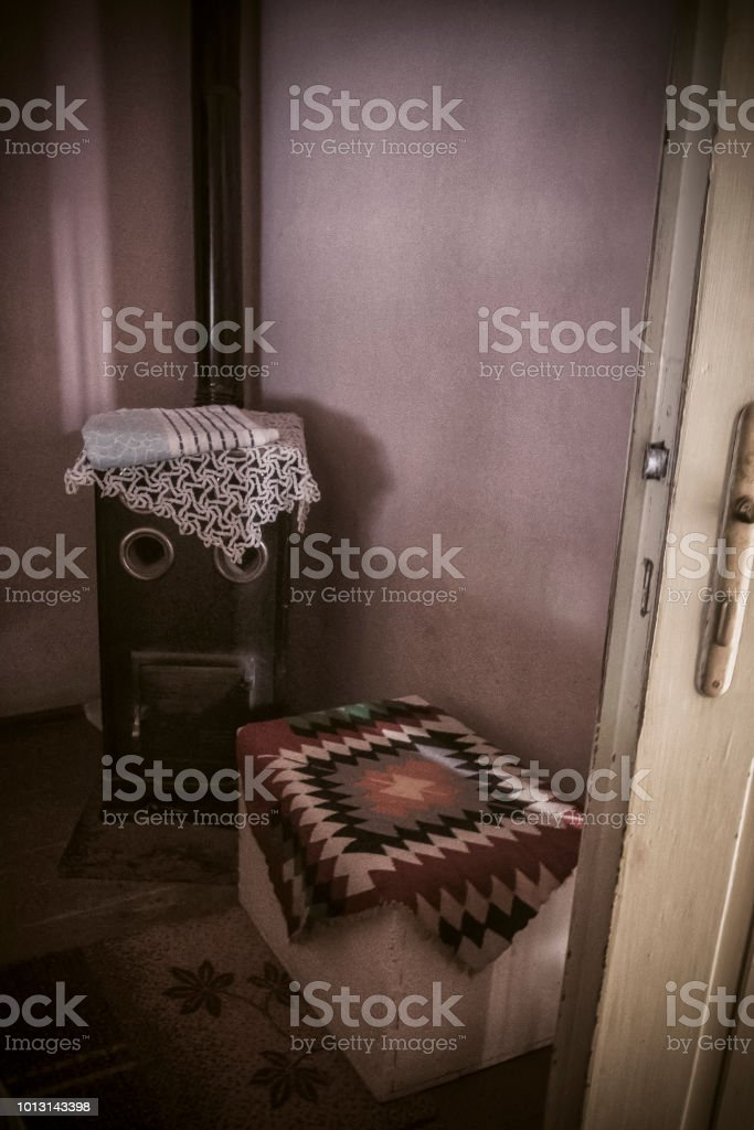 Interior details of our old country house in Serbia