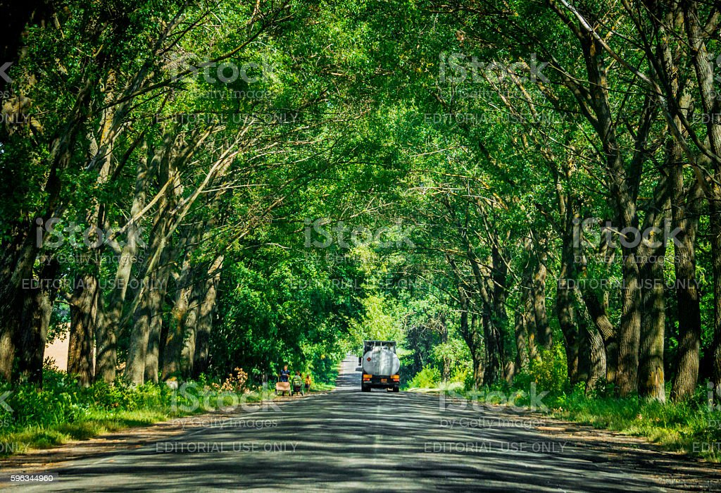 Old country road. Rural transport in Europe royalty-free stock photo