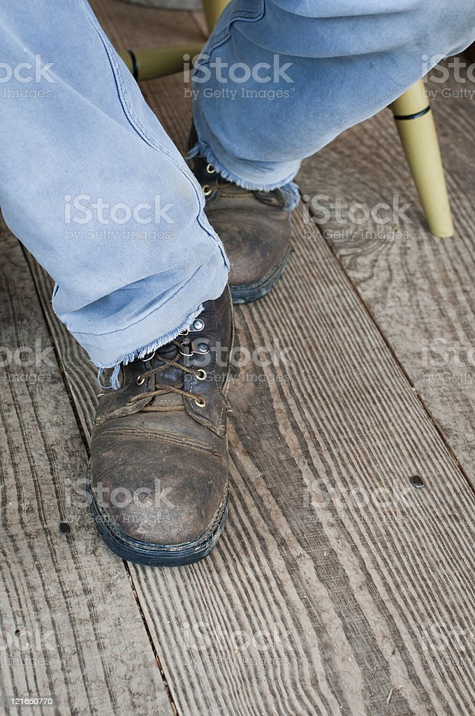 Old Country Shoes royalty-free stock photo