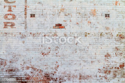 brick wall of an old country building