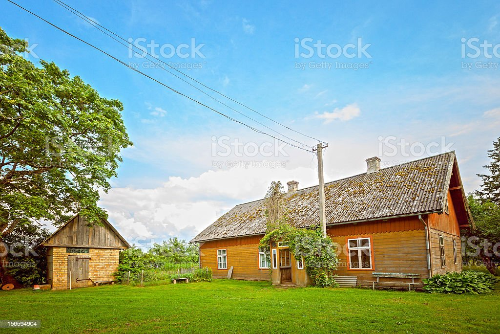 Old countryside home stock photo
