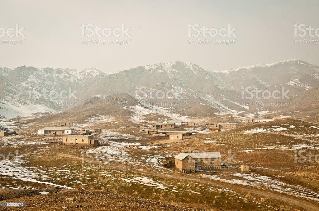 Old countryside of Tajikistan stock photo