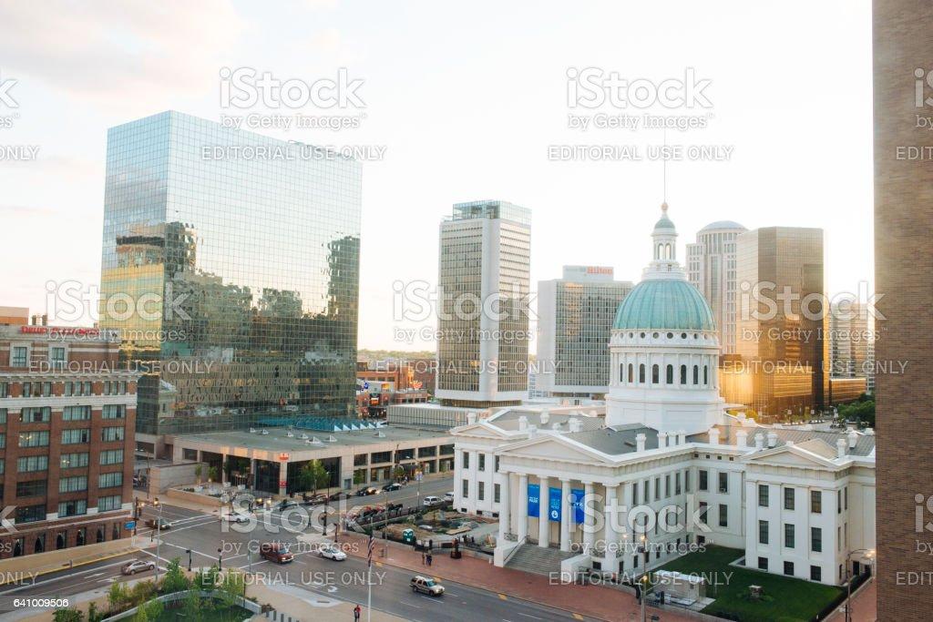Old Courthouse Saint Louis Missouri Landmark Architecture USA stock photo