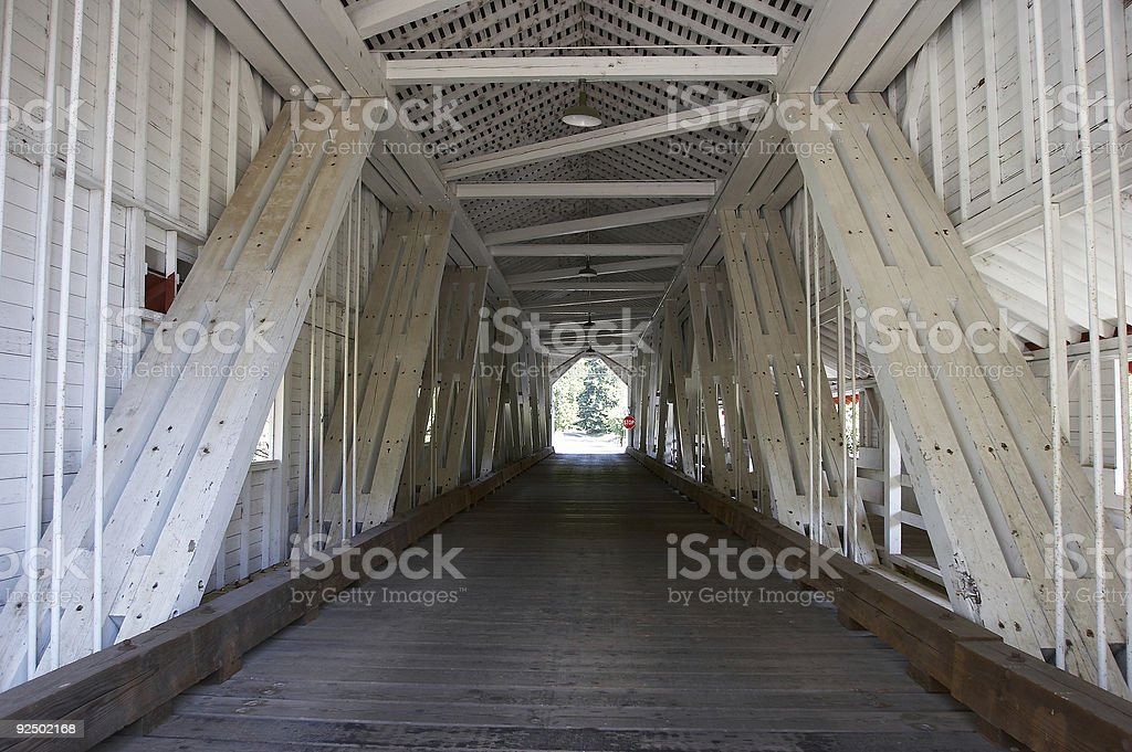 Old covered bridge royalty-free stock photo