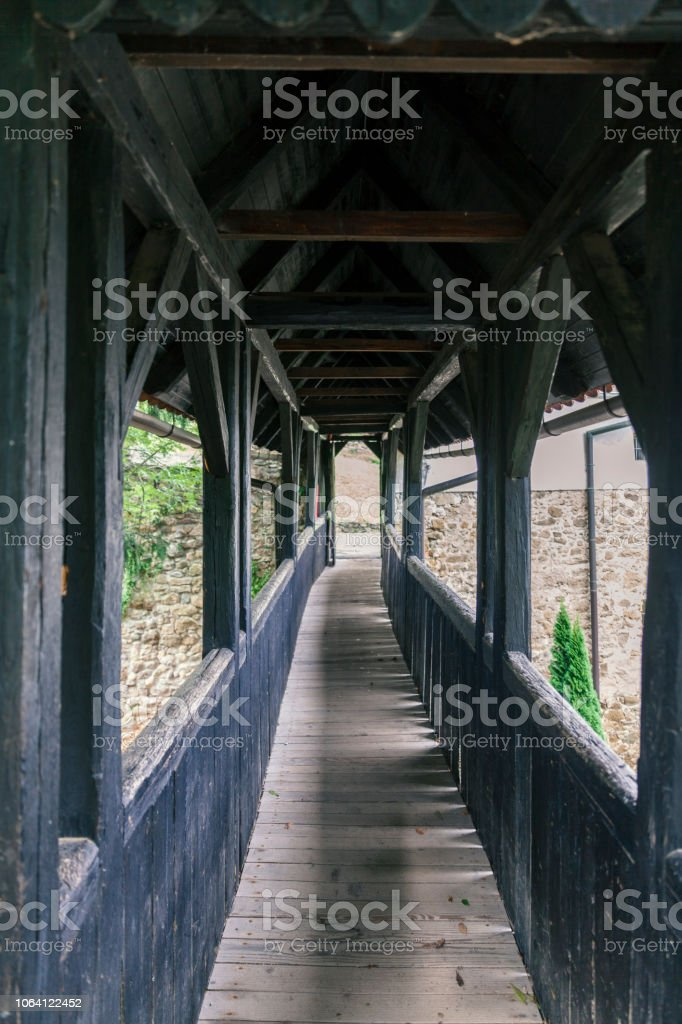 Old Covered Wooden Bridge Stock Photo Download Image Now Istock