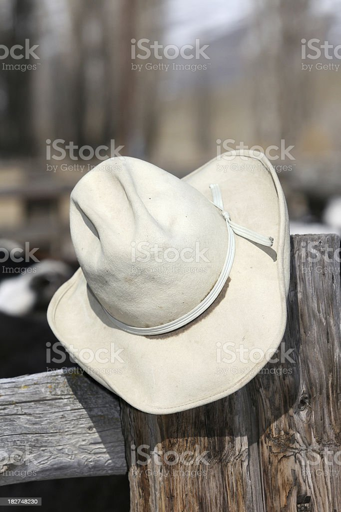 Old cowboy hat royalty-free stock photo
