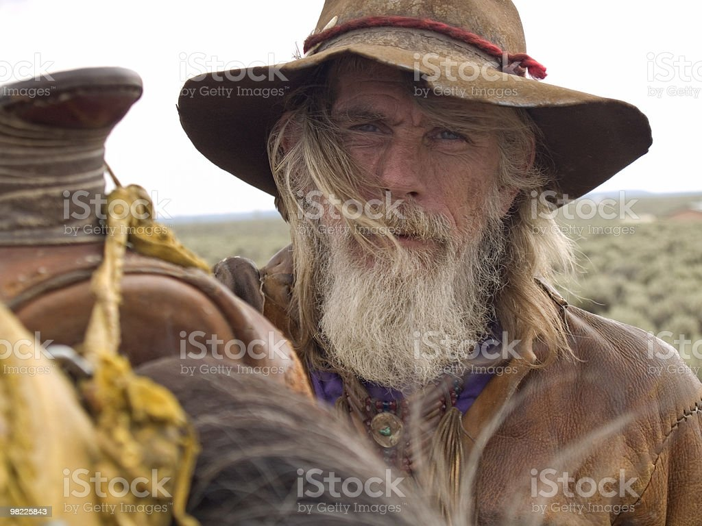 Old cowboy stock photo