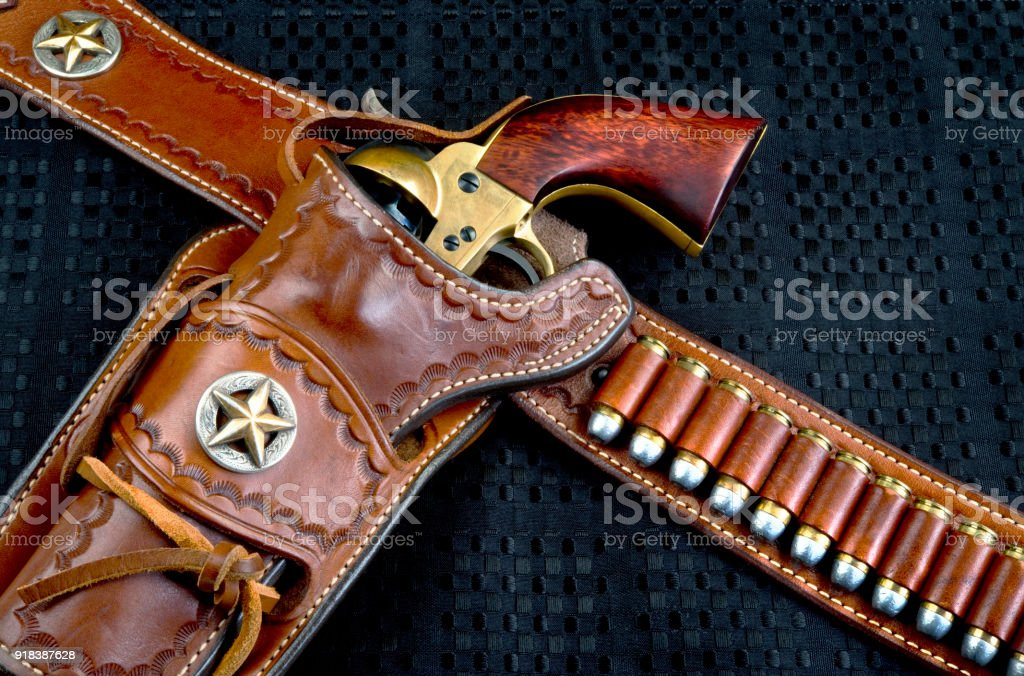 Old Cowboy Pistol. stock photo