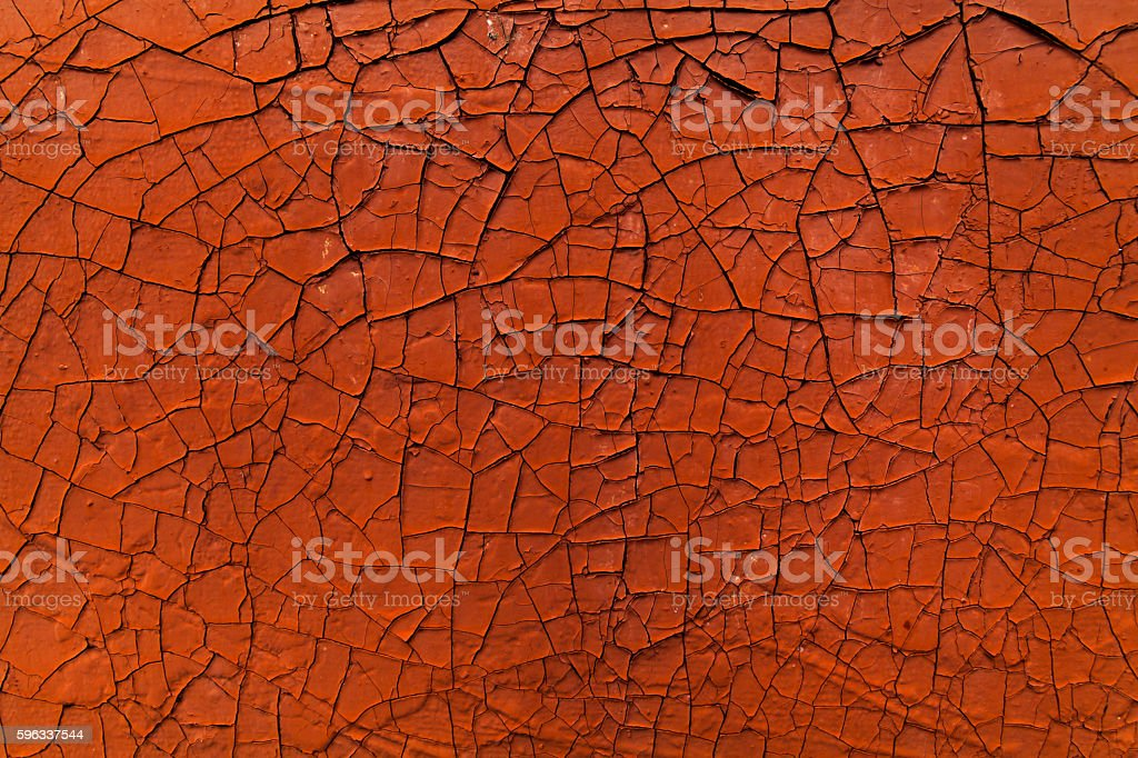 Old cracked paint. Orange abstract background. royalty-free stock photo