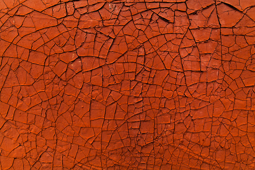 Old Cracked Paint Orange Abstract Background Stock Photo & More Pictures of Abandoned