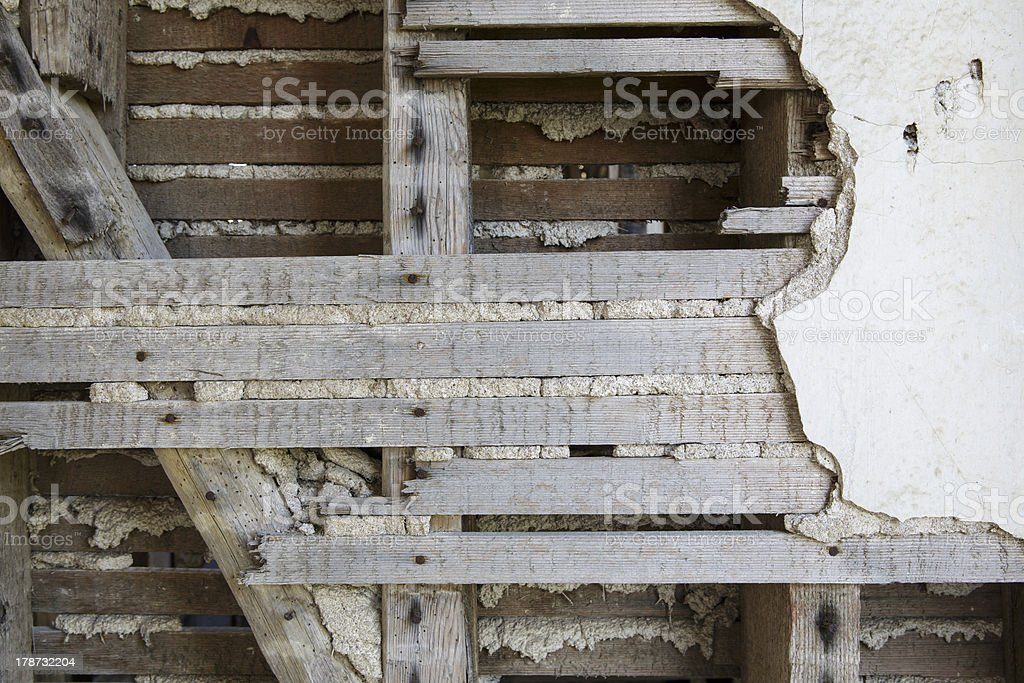 Old Cracked Plaster stock photo