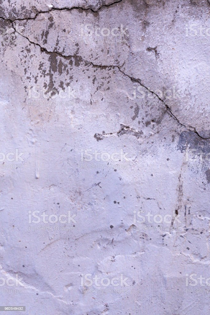 Old cracked rought white plaster wall texture background - Royalty-free Abstract Stock Photo