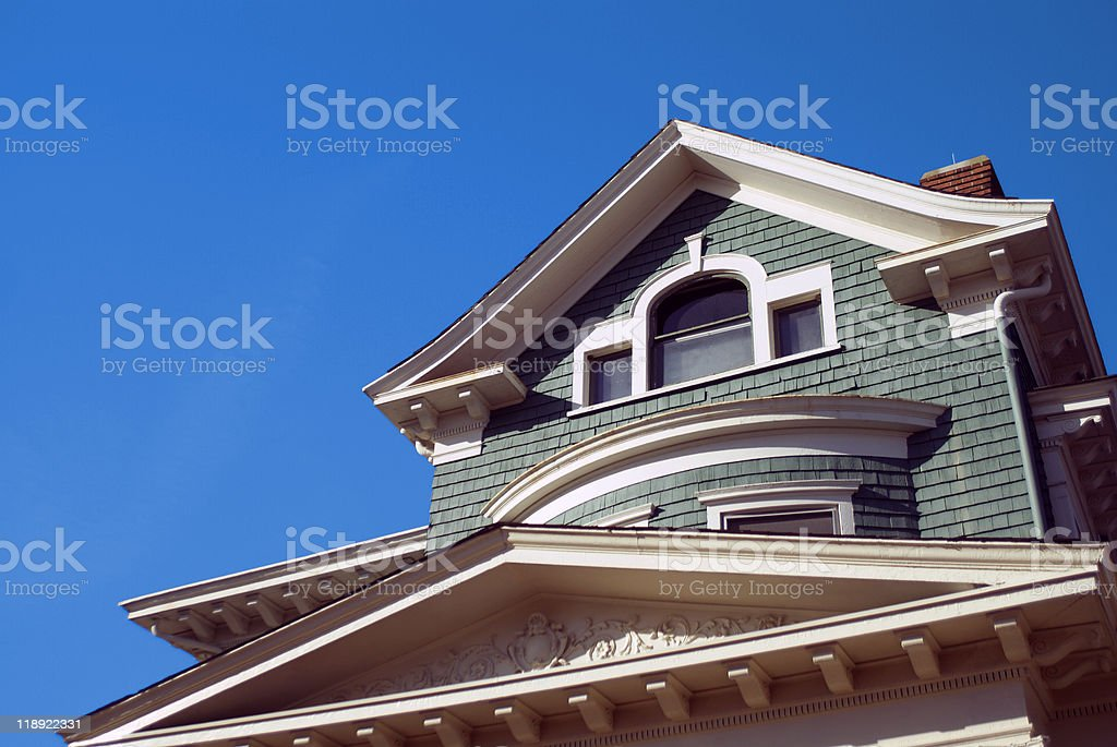 old craftsman style home stock photo