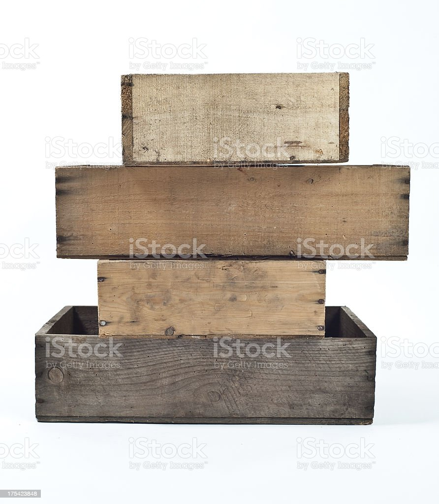old crates stock photo