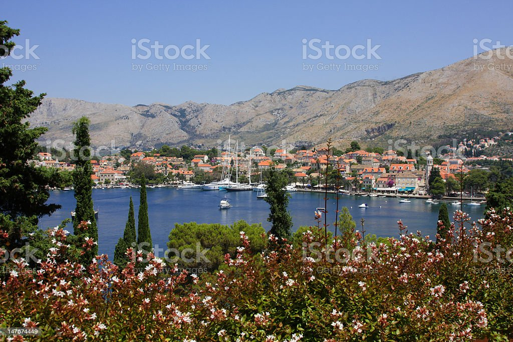 Old croatian town Cavtat stock photo