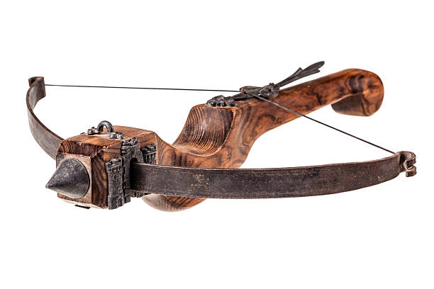 old crossbow - crossbow stock pictures, royalty-free photos & images