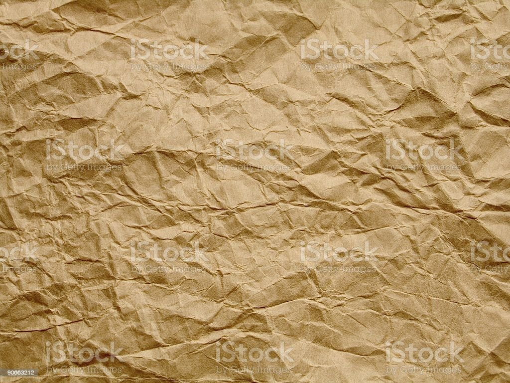 old crumpled paper royalty-free stock photo