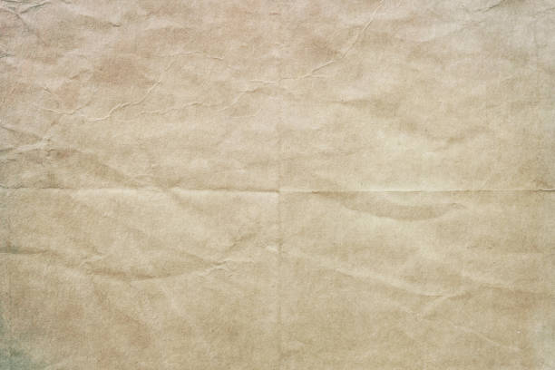old crumpled paper texture or background Old worn blank paper texture or background folded stock pictures, royalty-free photos & images