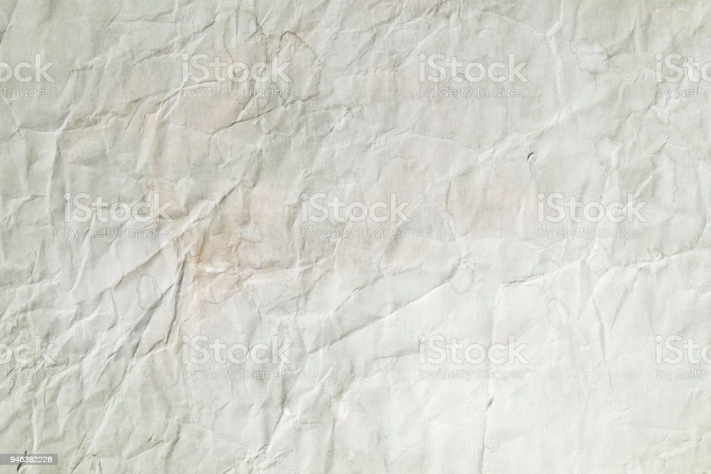 old crumpled paper texture stock photo