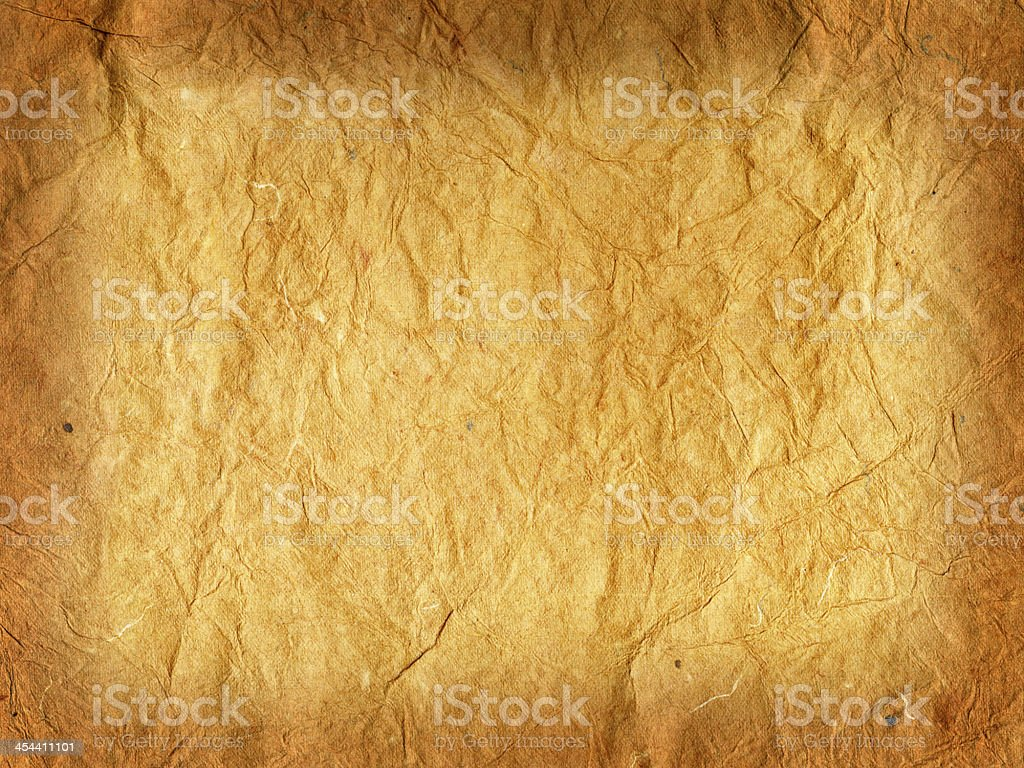 Old crumpled rice paper royalty-free stock photo