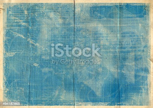 istock Old crumpled vintage card with dirty spots and stains 494182865