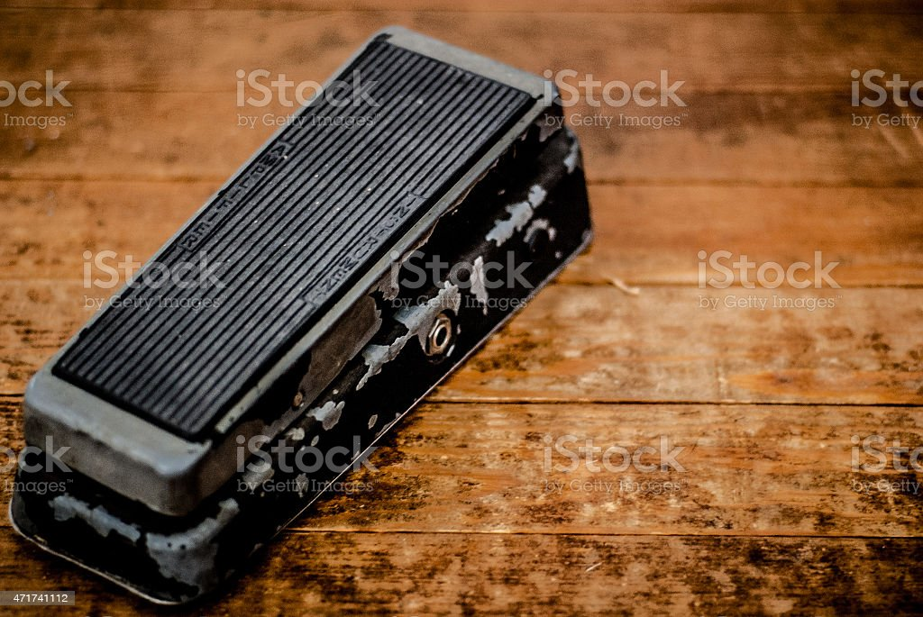 Old Crybaby Wah Wha Guitar Pedal stock photo