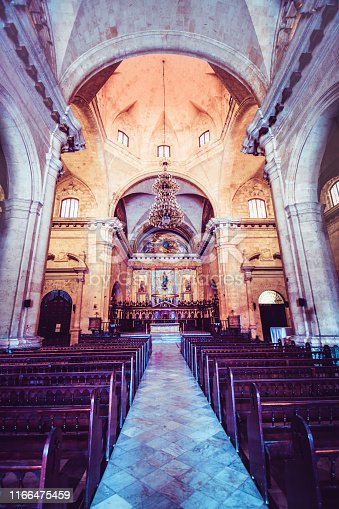 Old Cuban Cathedral Inside