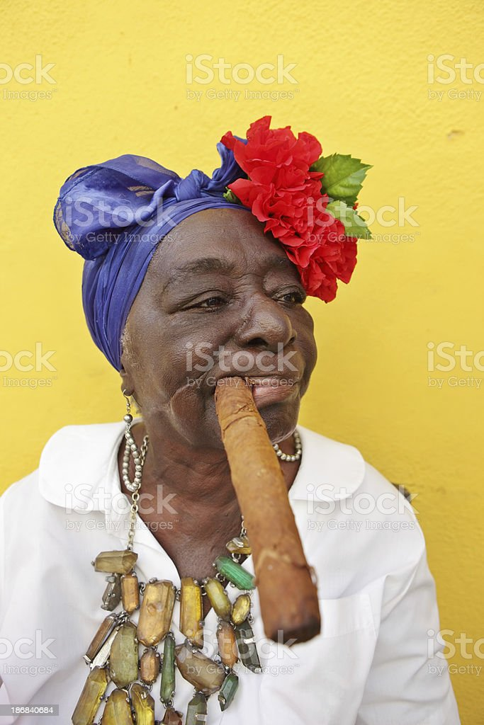 Old Cuban Woman royalty-free stock photo