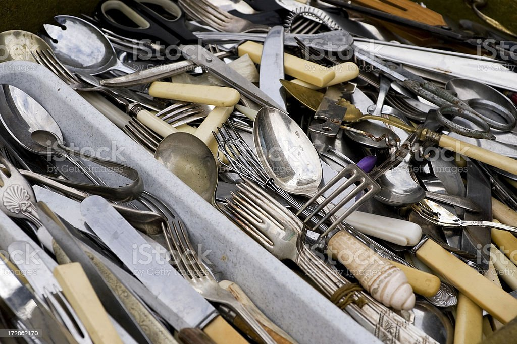 Old cutlery royalty-free stock photo