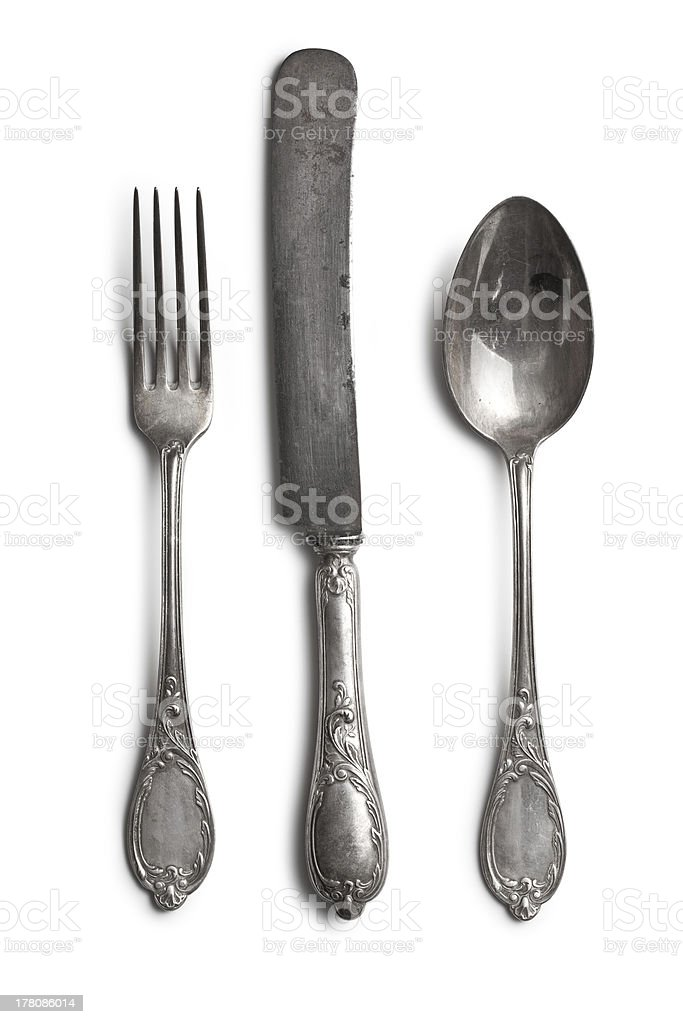 old cutlery stock photo
