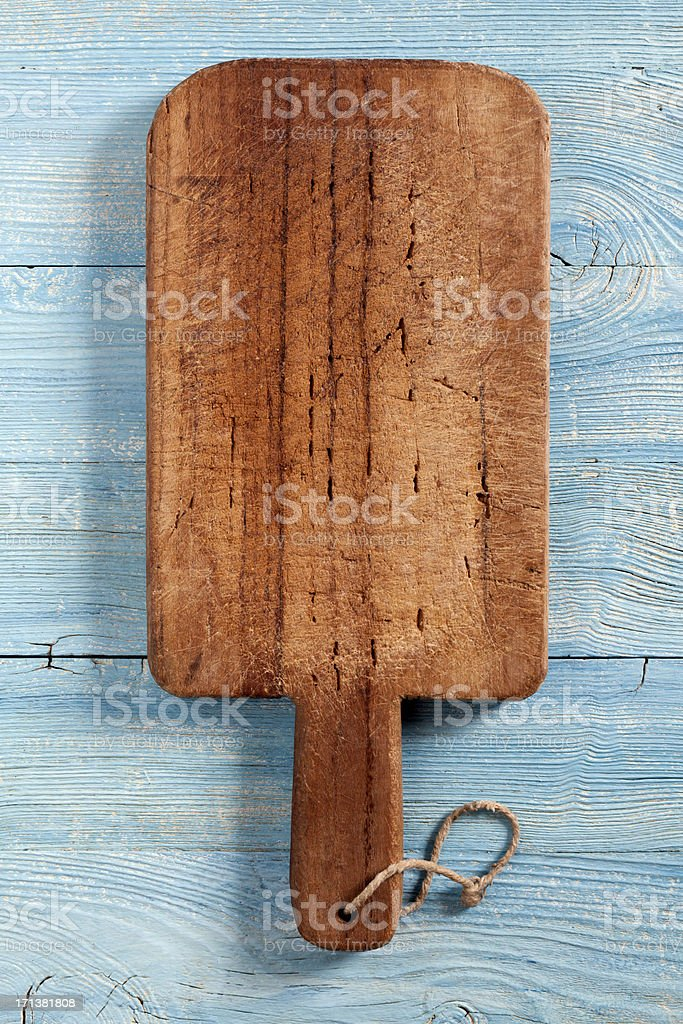 Old cutting board stock photo