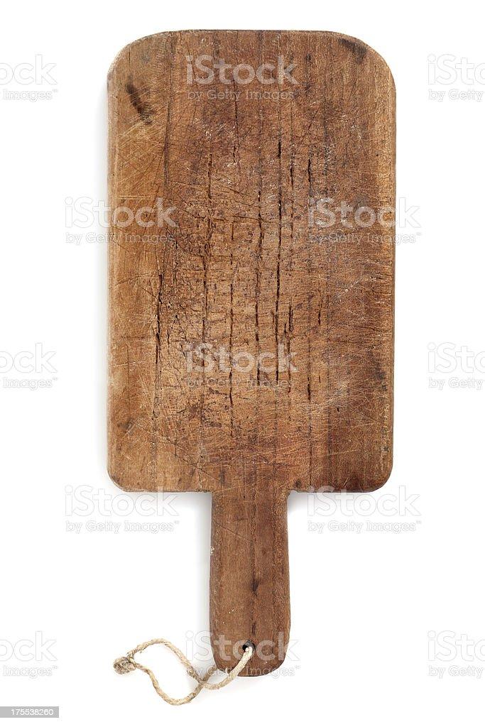 Old cutting board stock photo