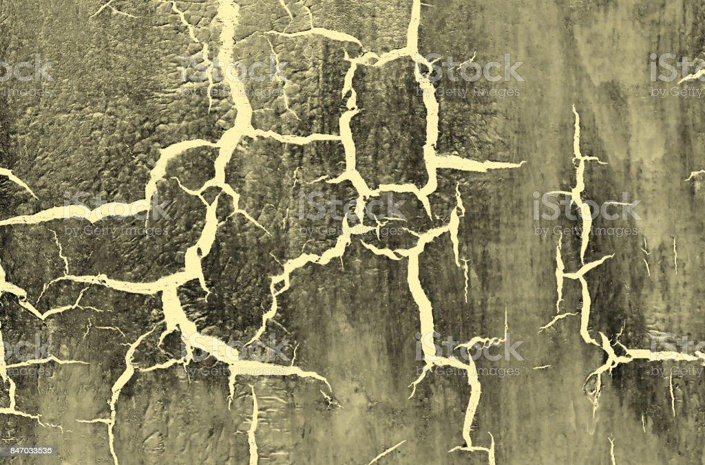 Photo Libre De Droit De Vieux Endommagé Cracked Peinture Murale