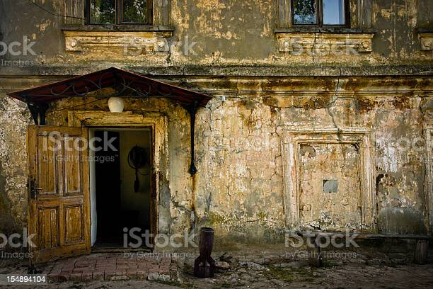 Old damaged house  Ancient Stock Photo