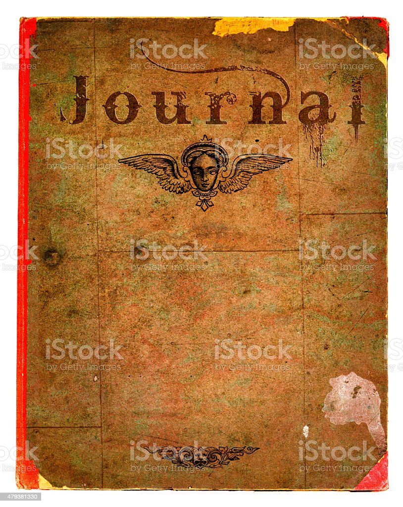 Old Damaged Journal Book Cover stock photo