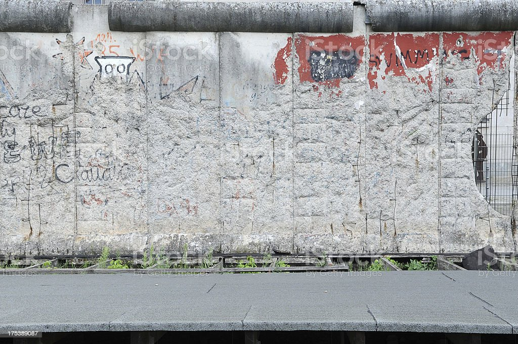 Old damaged wall stock photo
