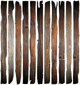 istock old damaged wood planks on white 509514781