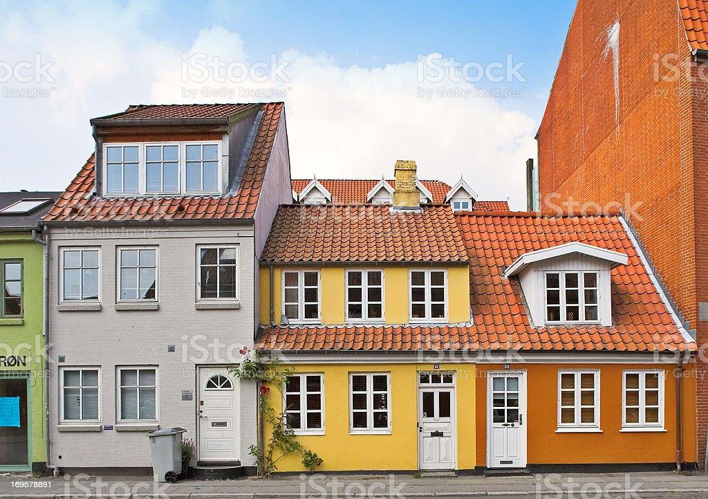 Old dänischen Häuser Lizenzfreies stock-foto