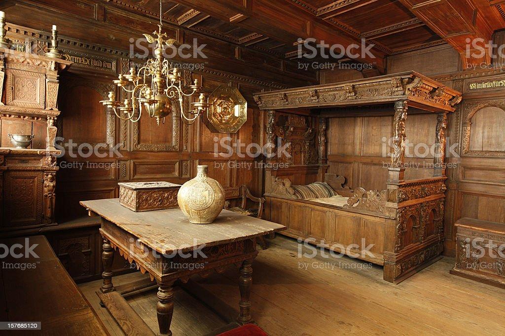 old danish interior stock photo