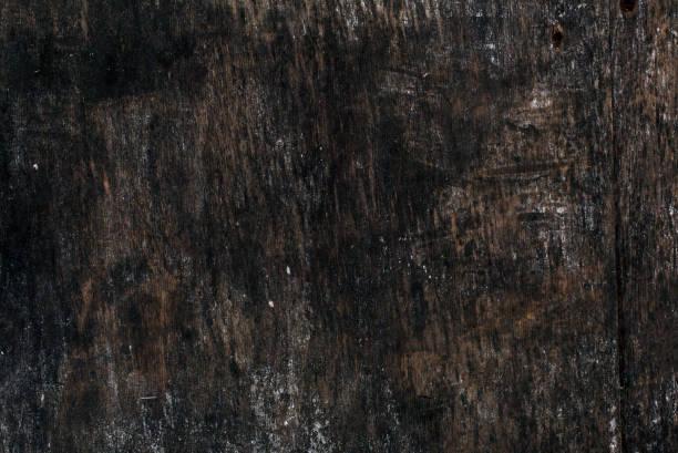 Old dark empty wooden billboard texture background stock photo